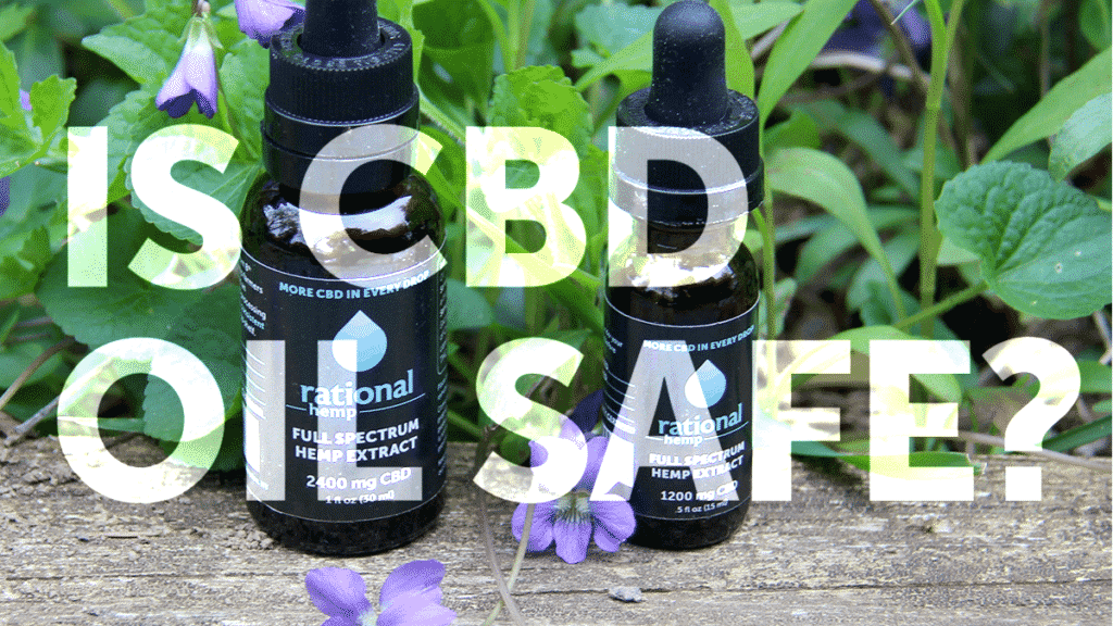 "Blog header image: ""Is CBD Oil Safe?"""